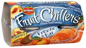 Del Monte Frozen Fruit Sorbet Frosty Peach