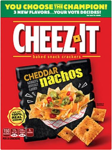 Cheddar Nachos Baked Snack Crackers