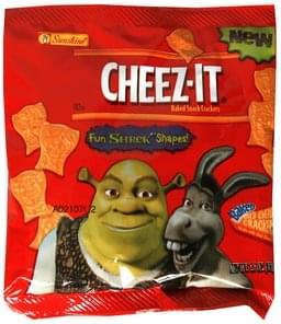 Cheez It Baked Snack Crackers Fun Shrek Shapes, Mild Cheddar