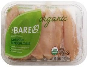 Just Bare Chicken Organic, Tenderloins, Boneless, Skinless