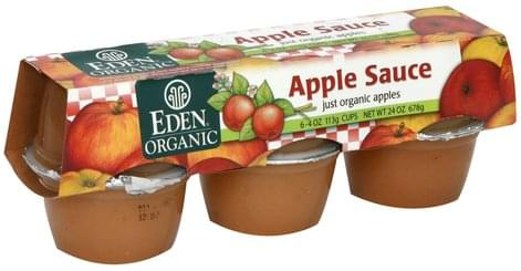 Eden Organic Apples Apple Sauce - 6 ea