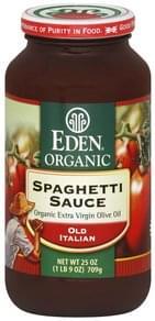 Eden Spaghetti Sauce Old Italian