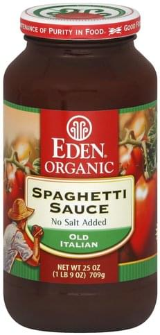 Eden No Salt Added, Old Italian Spaghetti Sauce - 25 oz