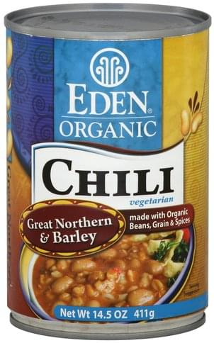 Eden Organic, Vegetarian, Great Northern & Barley Chili - 5 oz