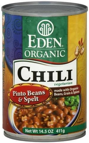Eden Organic, Vegetarian, Pinto Bean Chili - 14.5 oz