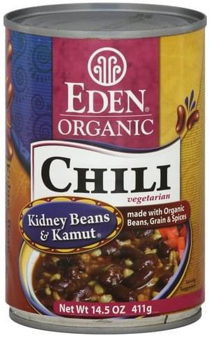 Eden Organic, Vegetarian, Kidney Beans & Kamut Chili - 14.5 oz