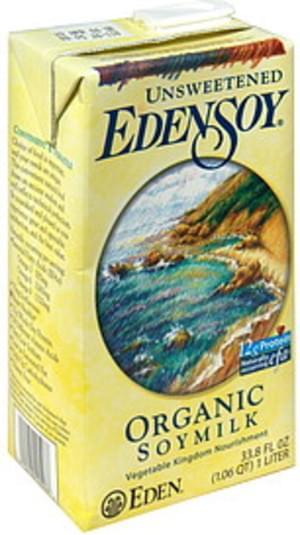 Eden Soy Unsweetened Organic Soymilk - 33.8 oz