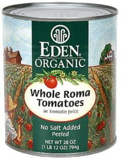 Eden Whole Roma Tomatoes in Tomato Juice