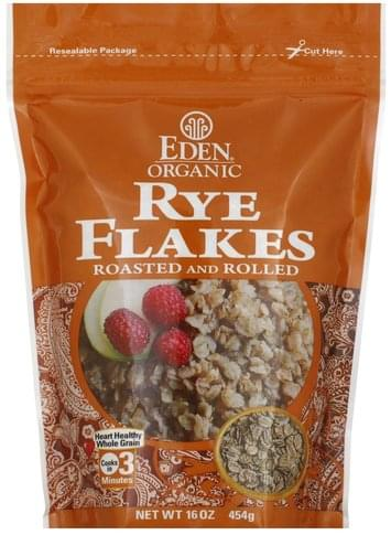 Eden Roasted and Rolled Rye Flakes - 16 oz