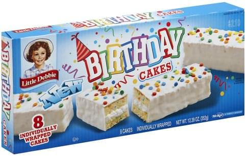 Awe Inspiring Little Debbie Birthday Cakes 8 Ea Nutrition Information Innit Funny Birthday Cards Online Alyptdamsfinfo