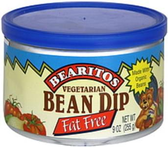 Bearitos Bean Dip Vegetarian, Fat Free