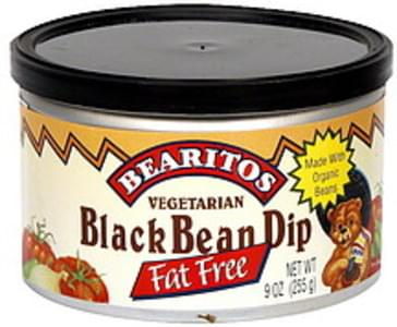 Bearitos Black Bean Dip Vegetarian, Fat Free