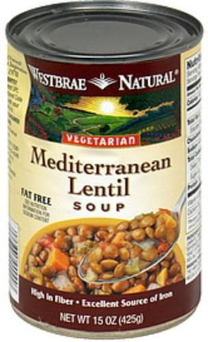 Westbrae Natural Mediterranean Lentil Soup - 15 oz