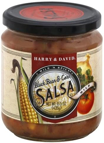 Harry & David Black Bean & Corn, Mild Salsa - 15.5 oz