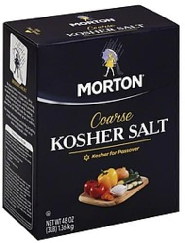 Morton Coarse Kosher Salt - 48 oz, Nutrition Information | Innit