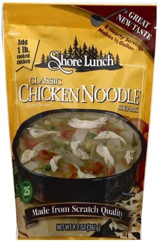 Shore Lunch Classic Chicken Noodle Soup Mix - 9 2 oz, Nutrition