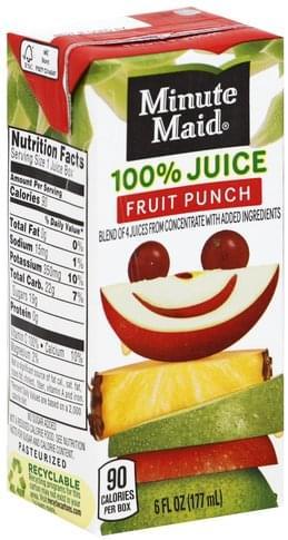 Minute Maid Fruit Punch 100% Juice - 6