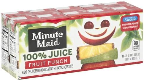 Minute Maid Fruit Punch 100% Juice - 10