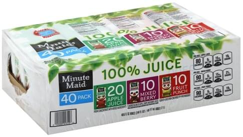 Minute Maid Apple Juice/Mixed Berry