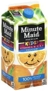Minute Maid 100% Juice Orange, Pulp Free