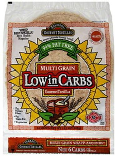 Tumaros Multi Grain, Low in Carbs Gourmet Tortillas - 6 ea