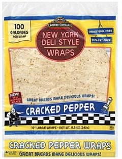 Tumaros Wraps Large, New York Deli Style, Cracked Pepper