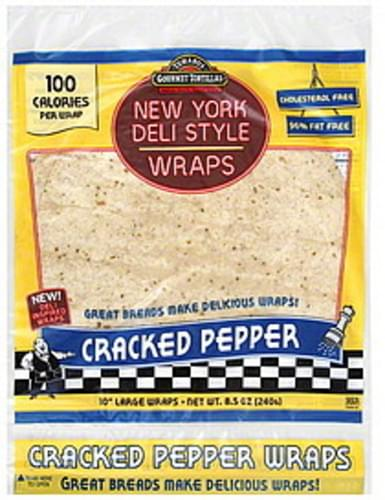 Tumaros Large, New York Deli Style, Cracked Pepper Wraps - 8.5 oz
