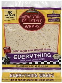 Tumaros Wraps New York Deli Style, Large, 10 Inch, Everything
