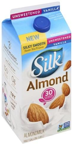 Silk Unsweetened, Vanilla Almond Milk - 0.5 gl