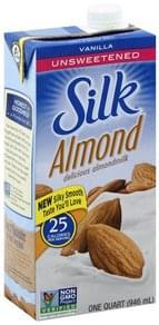 Silk Almondmilk Unsweetened, Vanilla