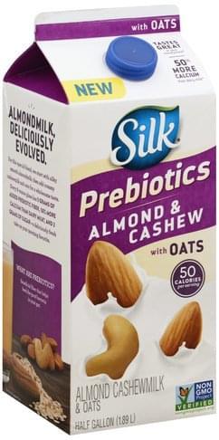 Silk Prebiotics, & Oats Almond Cashewmilk - 0.5 gl
