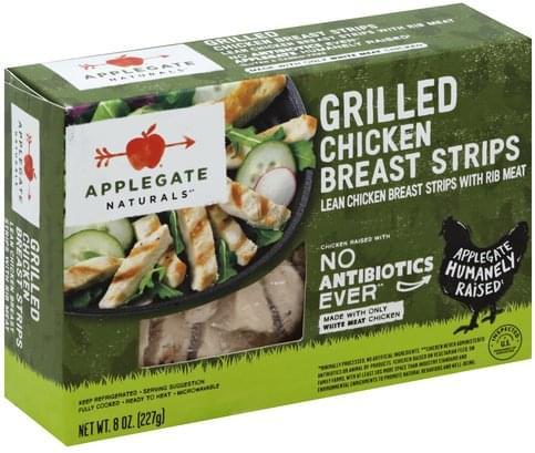 Applegate Chicken, Grilled Breast Strips - 8 oz, Nutrition