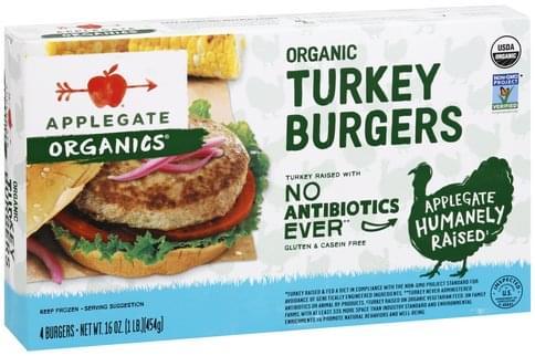 Applegate Organic Turkey Burgers - 4 ea