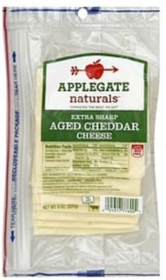 Applegate Cheese Aged Cheddar, Extra Sharp