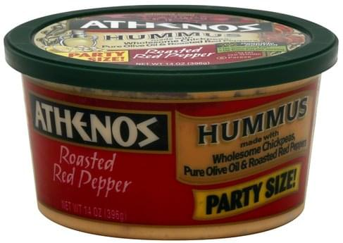 Athenos Roasted Red Pepper Hummus - 14 oz