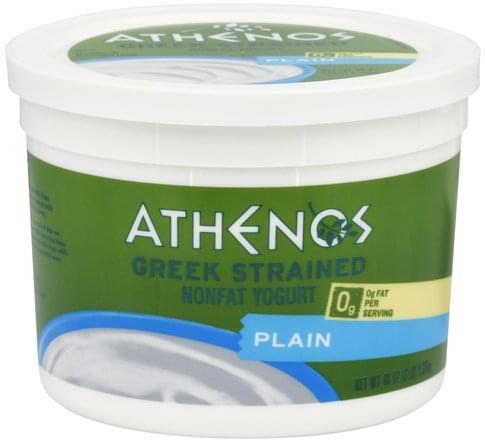 Athenos Nonfat, Greek Strained, Plain Yogurt - 48 oz