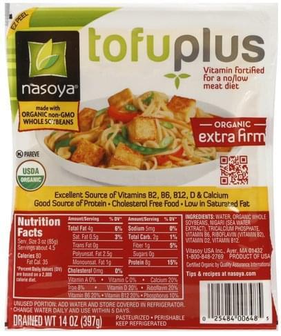 Nasoya Organic, Extra Firm TofuPlus - 14 oz