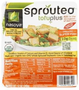 Nasoya Tofuplus Sprouted, Organic, Super Firm