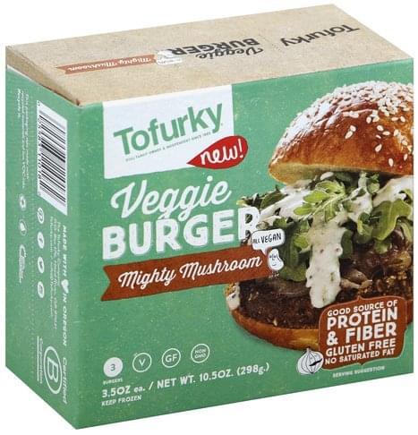 Tofurky Mighty Mushroom Veggie Burger - 3 ea