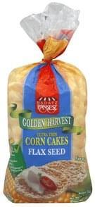 Paskesz Corn Cakes Ultra Thin, Flax Seed
