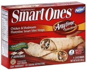 Smart Ones Smart Mini Wraps Chicken & Mushroom Florentine