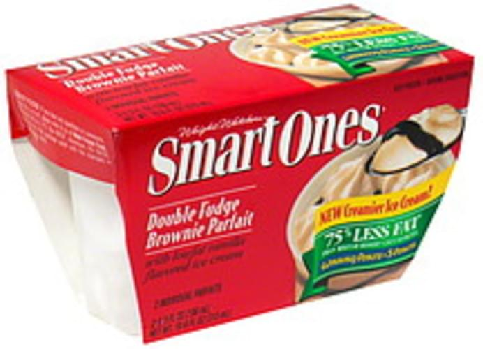 Smart Ones Double Fudge Brownie Parfait Ice Cream - 2 ea