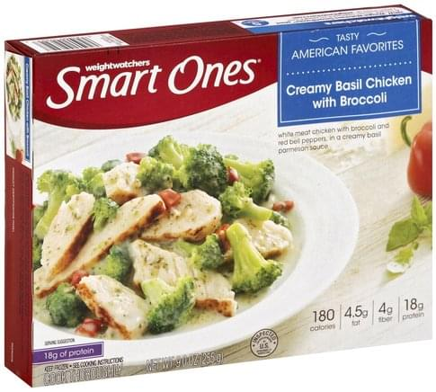 Smart Ones Creamy Basil Chicken with Broccoli - 9 oz