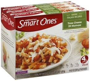 Smart Ones Three Cheese Ziti Marinara 4 Pack Value