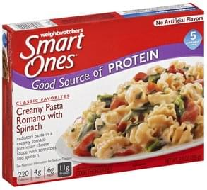 Smart Ones Creamy Pasta Romano with Spinach