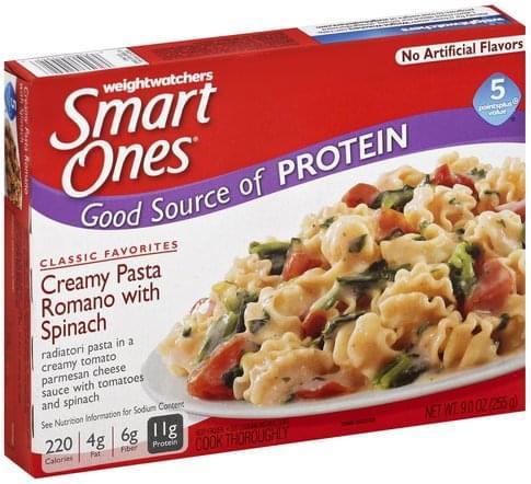 Smart Ones Creamy Pasta Romano with Spinach - 9 oz