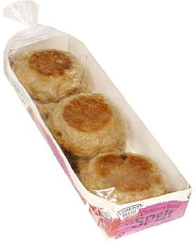 Vermont Spelt, Cinnamon Raisin Organic English Muffins - 12 oz