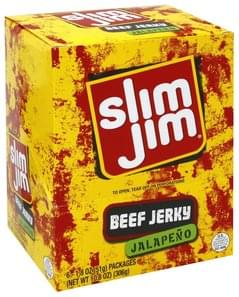 Slim Jim Beef Jerky Jalapeno