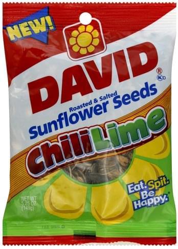David Chili Lime Sunflower Seeds - 5.25