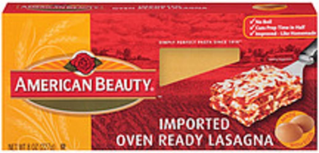 American Beauty Oven Ready Lasagna - 8 oz